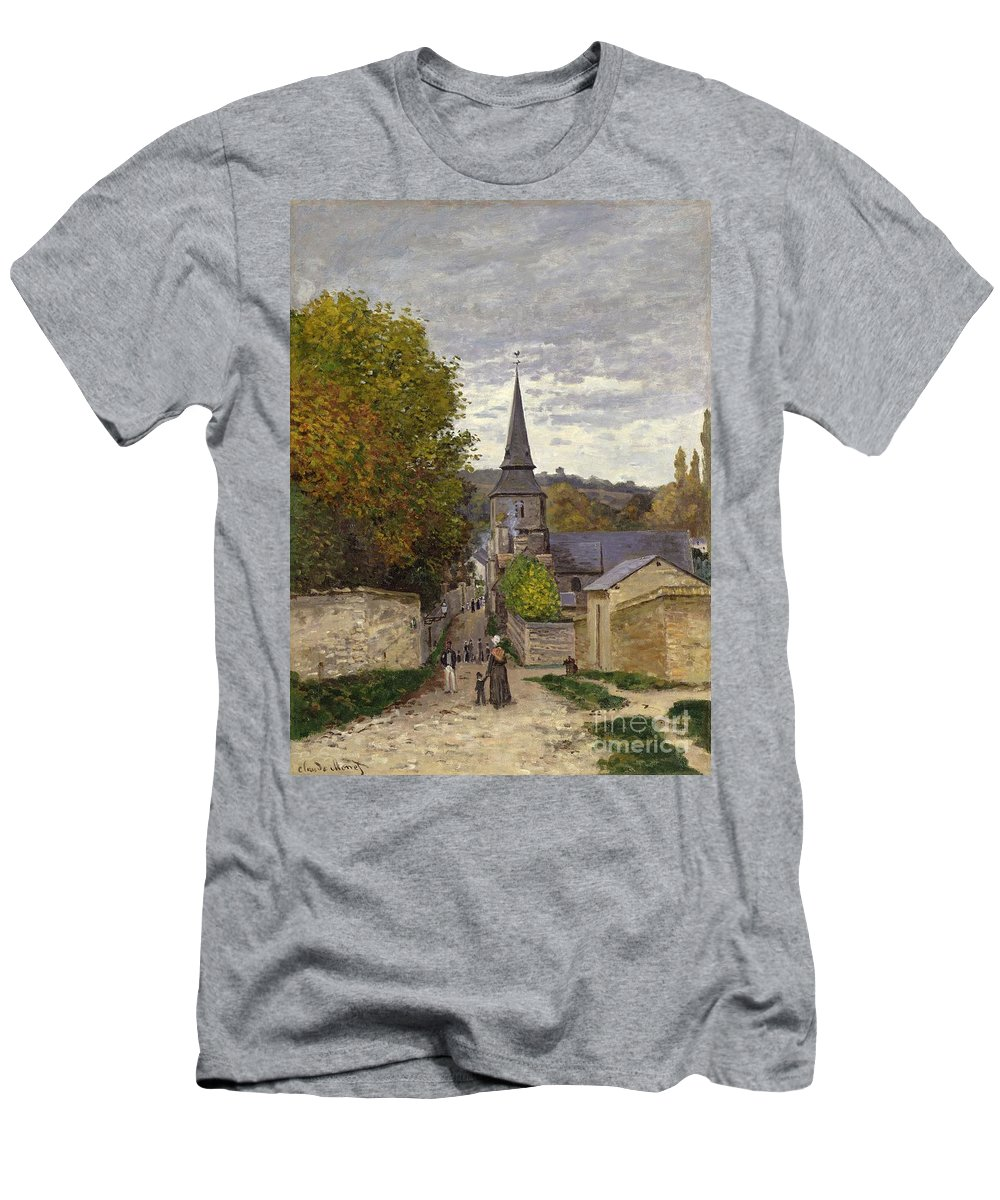 Street In Sainte-adresse T-Shirt featuring the painting Street In Sainte Adresse by Claude Monet