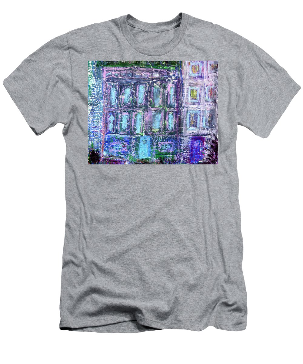 Street Men's T-Shirt (Athletic Fit) featuring the painting Street Life by Wayne Potrafka