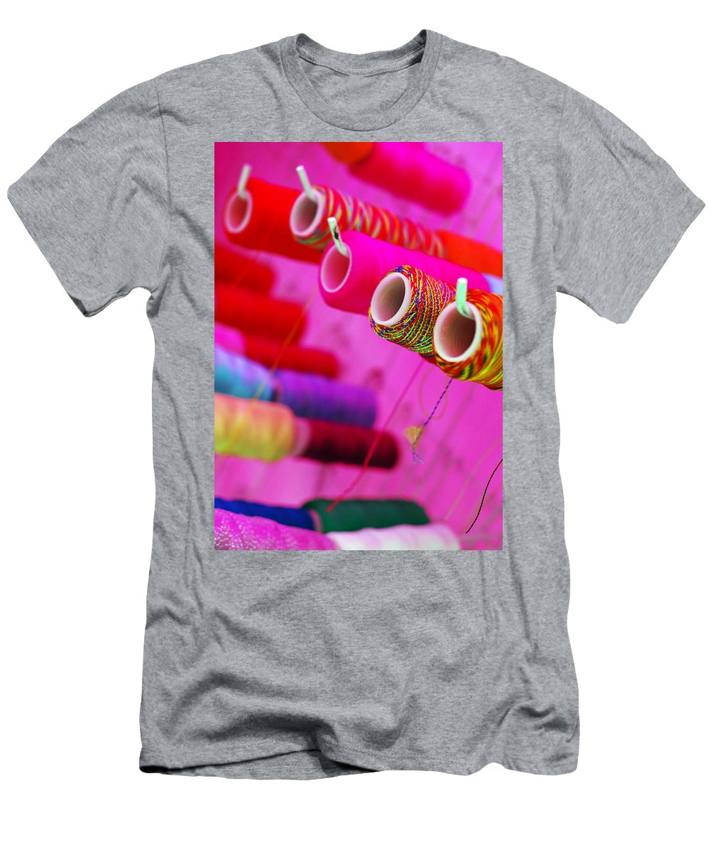 Color Men's T-Shirt (Athletic Fit) featuring the photograph String Theory by Skip Hunt