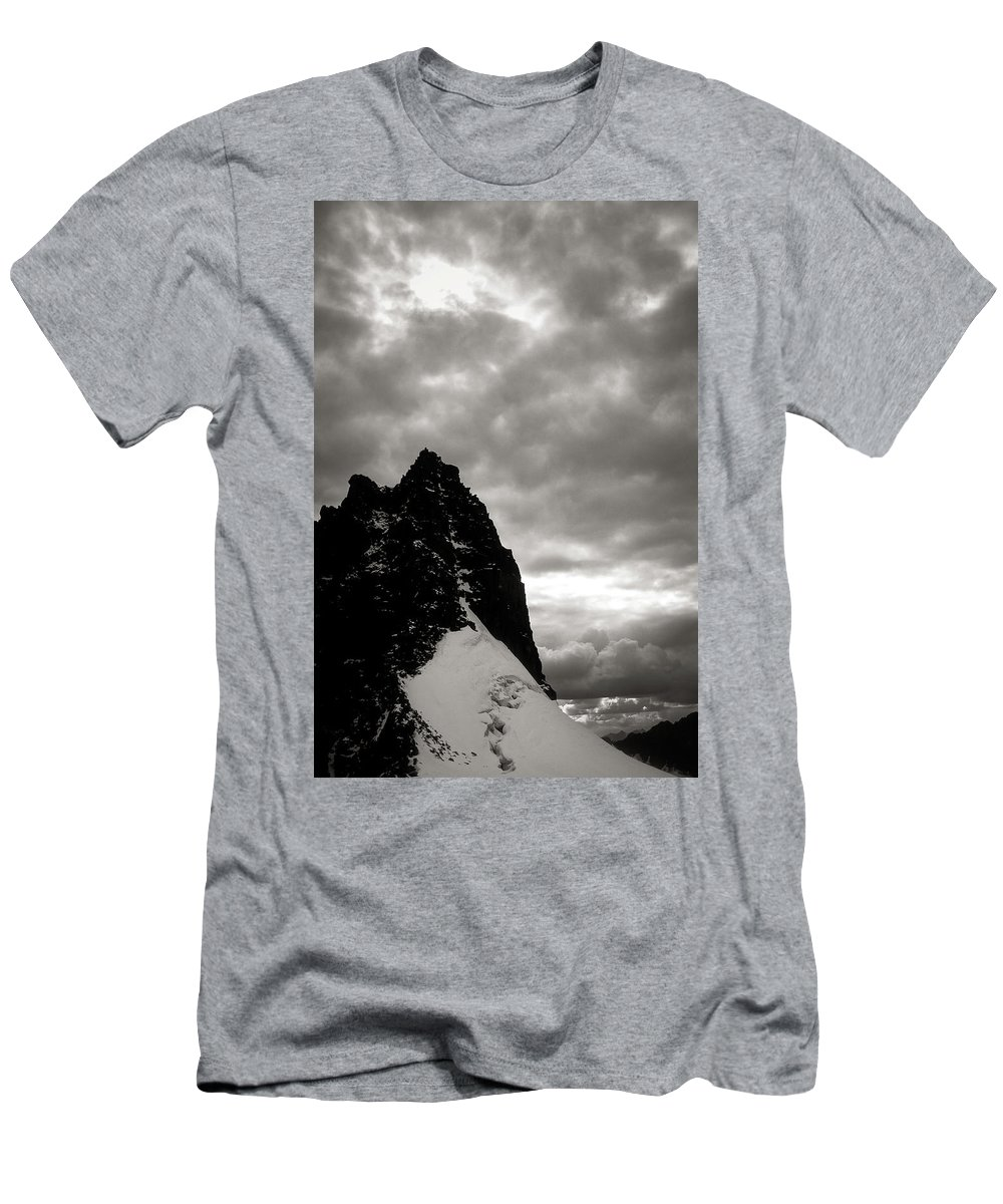 Alone Men's T-Shirt (Athletic Fit) featuring the photograph Stronghold by Konstantin Dikovsky