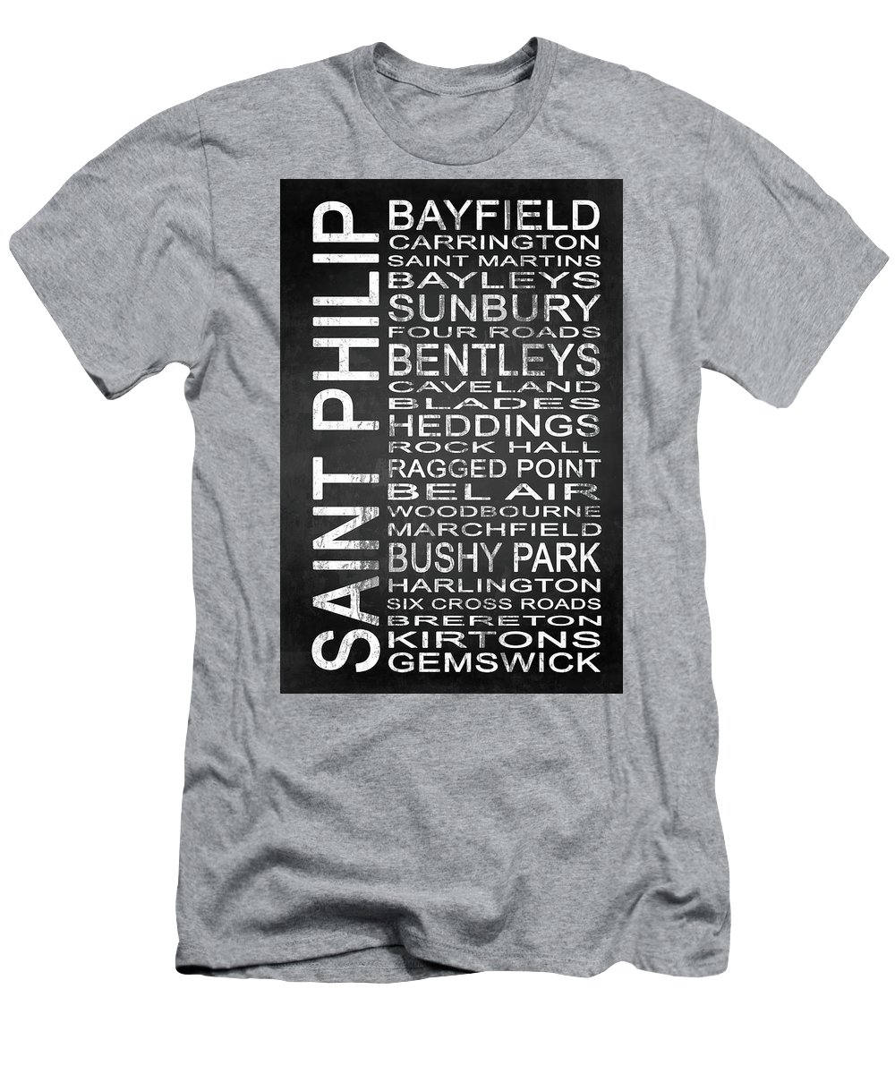 Art Men's T-Shirt (Athletic Fit) featuring the mixed media Subway Saint Philip Barbados 1 by Melissa Smith