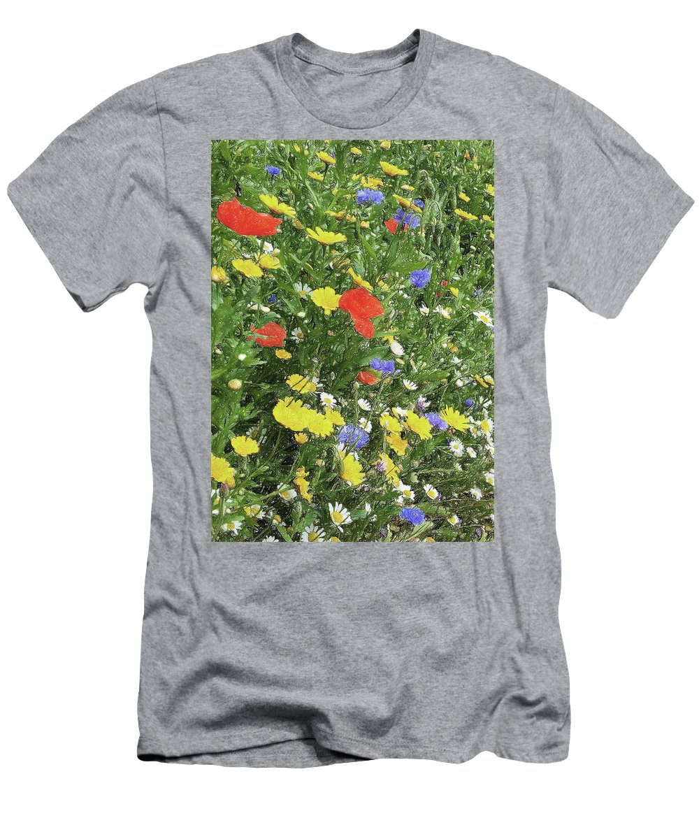Summer Men's T-Shirt (Athletic Fit) featuring the digital art Summer Colours by Julian Perry