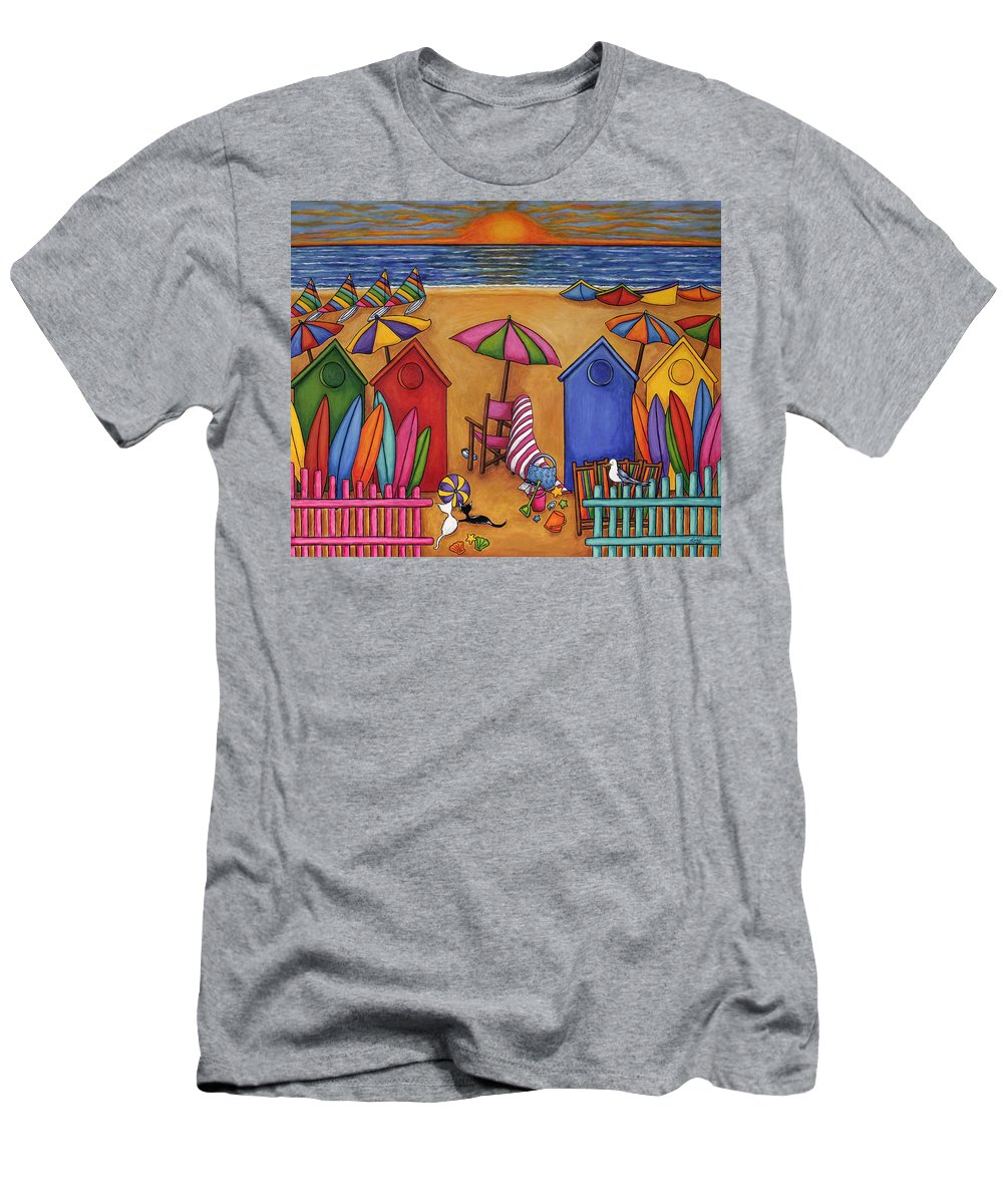 Summer T-Shirt featuring the painting Summer Delight by Lisa Lorenz