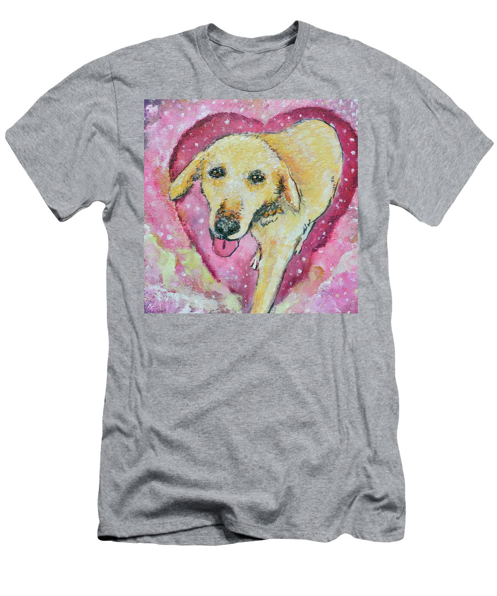 Pet Portrait Men's T-Shirt (Athletic Fit) featuring the painting Summer In The Sky For You by Ashleigh Dyan Bayer