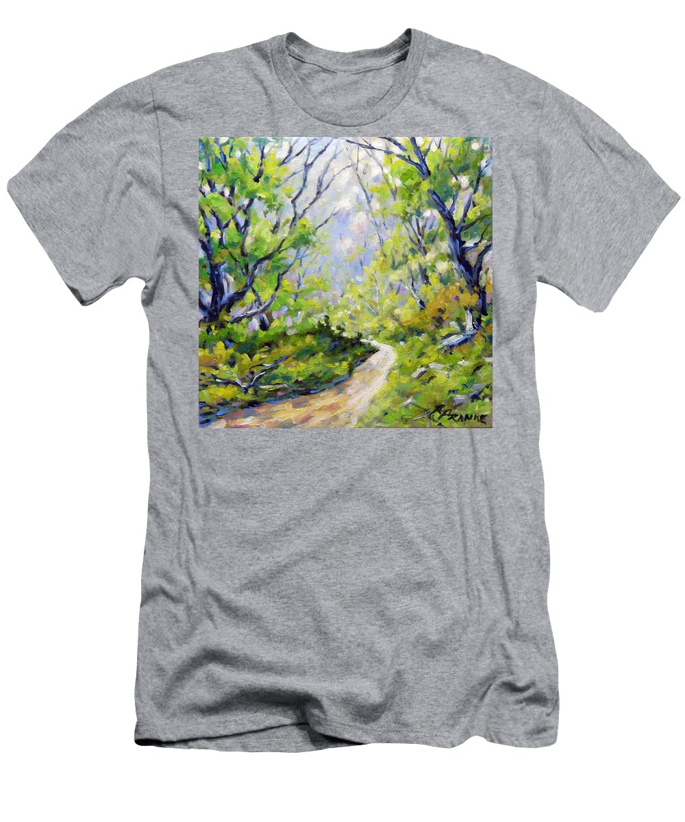 Art Men's T-Shirt (Athletic Fit) featuring the painting Summer Lights by Richard T Pranke