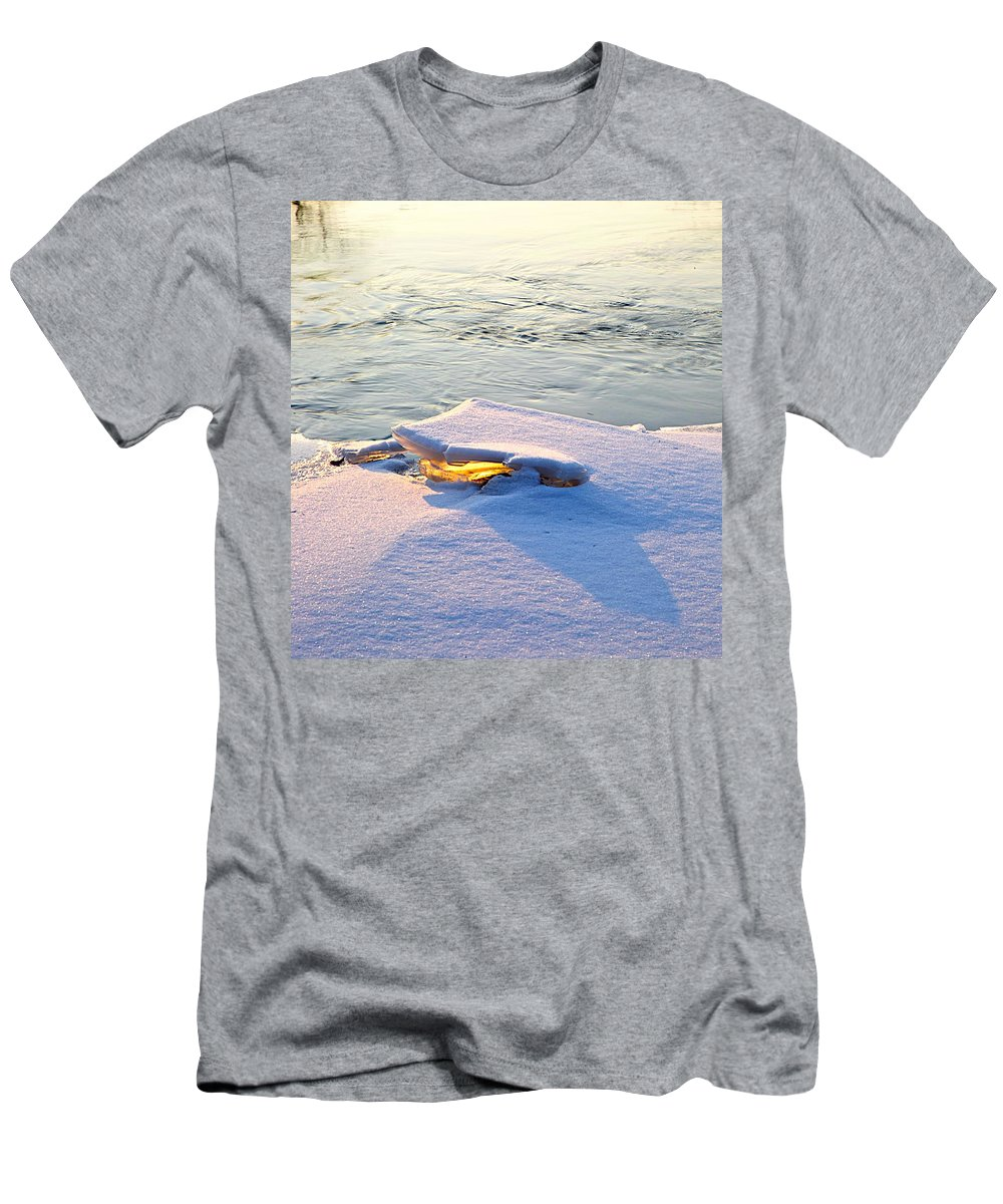 Sunshine Men's T-Shirt (Athletic Fit) featuring the photograph Sun And Ice by Robert Pearson