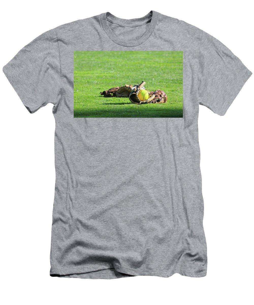 Softball T-Shirt featuring the photograph Sun Bathing by Laddie Halupa