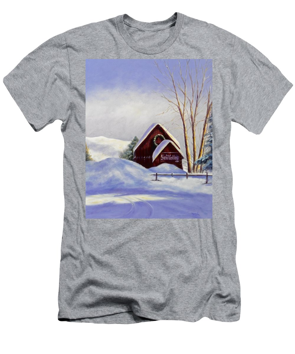 Landscape Men's T-Shirt (Athletic Fit) featuring the painting Sun Valley 2 by Shannon Grissom