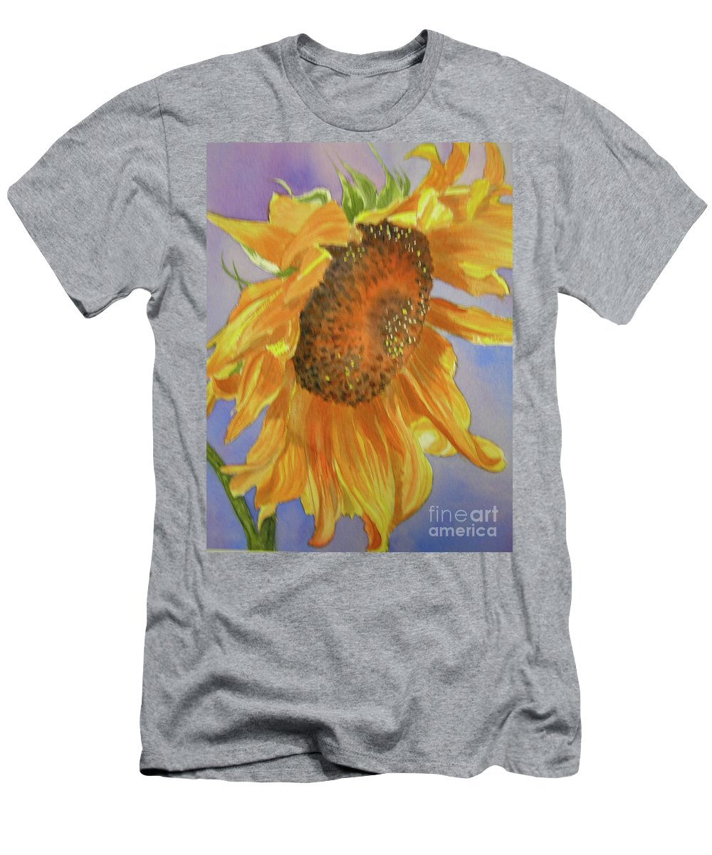 Sunflower T-Shirt featuring the painting Sunflower by Midge Pippel