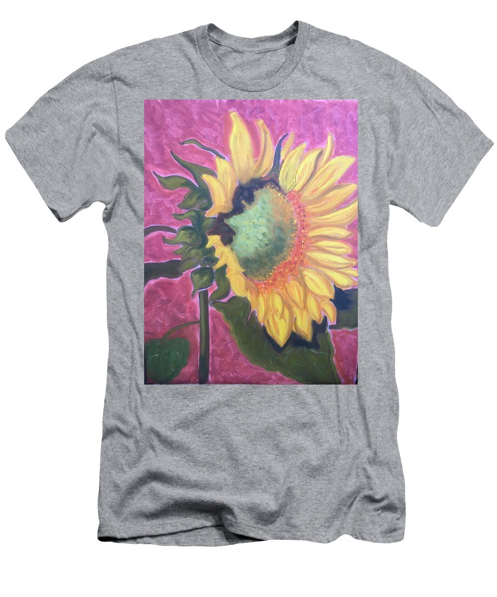 Flower Men's T-Shirt (Athletic Fit) featuring the painting New Mexico Sunflower by Ruth Hansen