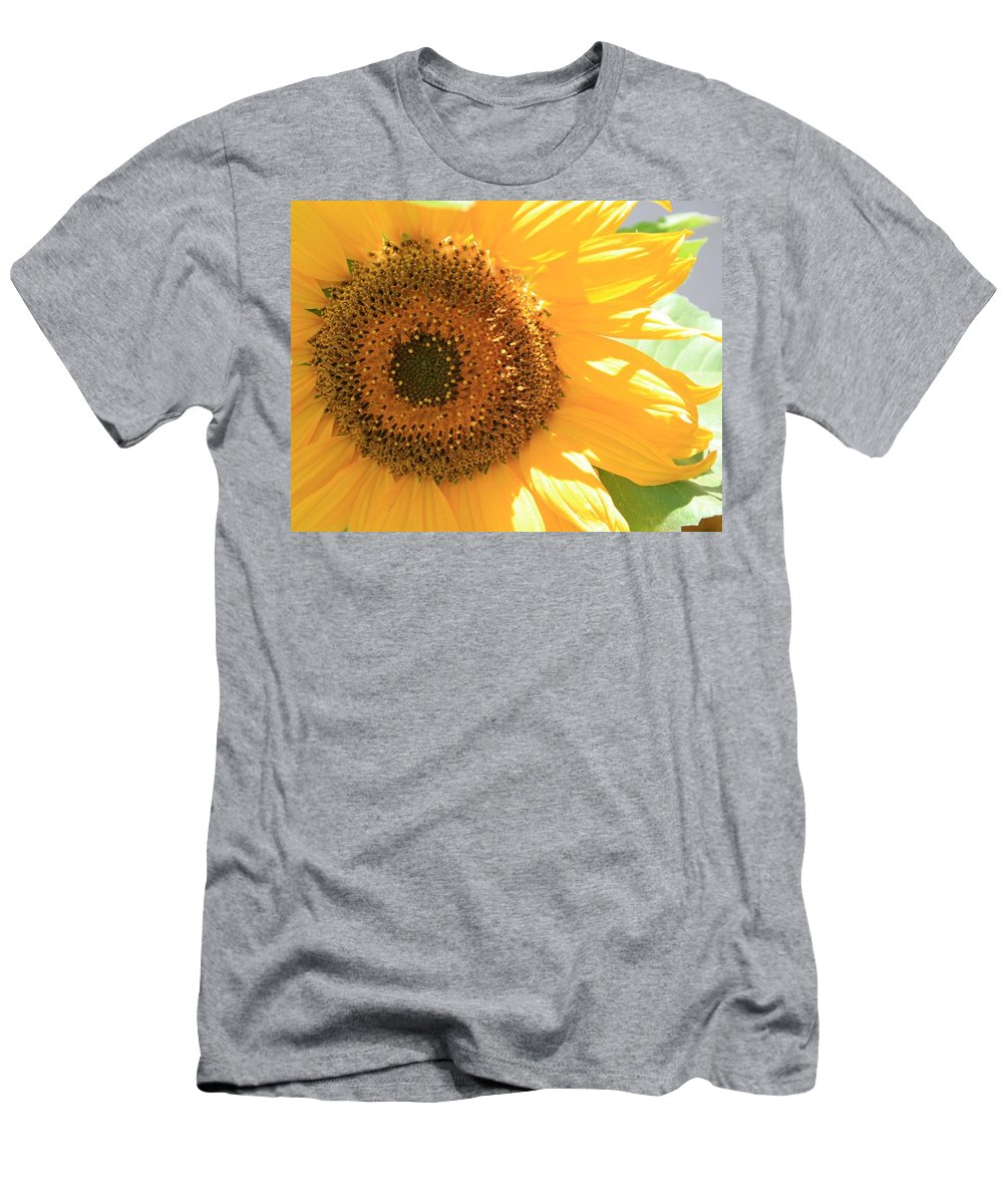 Sunflower Men's T-Shirt (Athletic Fit) featuring the photograph Sunflowers by Marna Edwards Flavell