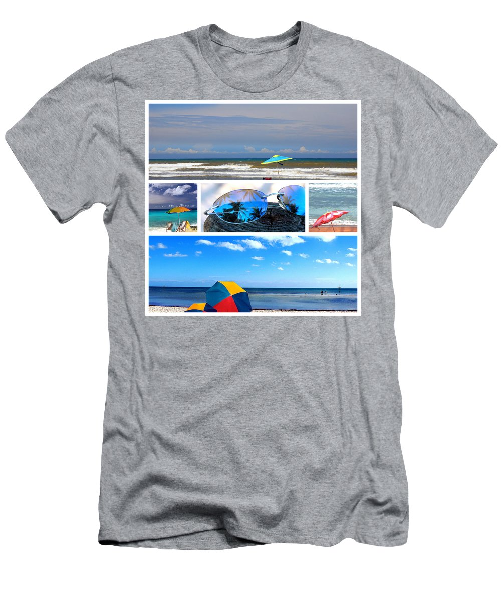 Beache Scene Men's T-Shirt (Athletic Fit) featuring the photograph Sunglasses Needed In Paradise by Susanne Van Hulst