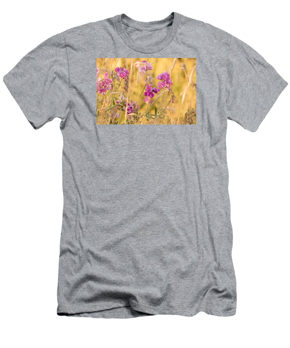 Sunny Garden Men's T-Shirt (Athletic Fit) featuring the photograph Sunny Garden 1 by Bonnie Bruno