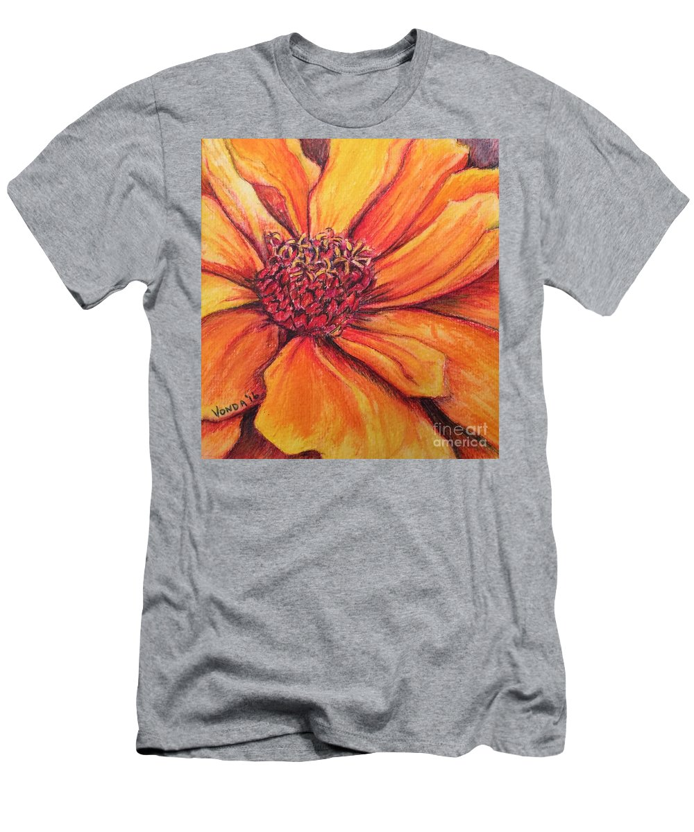 Macro Men's T-Shirt (Athletic Fit) featuring the drawing Sunny Perspective by Vonda Lawson-Rosa