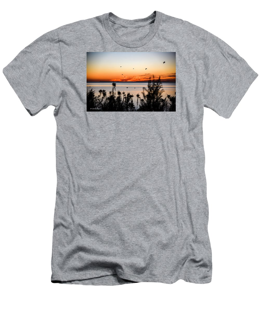 Sunrise Men's T-Shirt (Athletic Fit) featuring the photograph Sunrise1 by James Holt