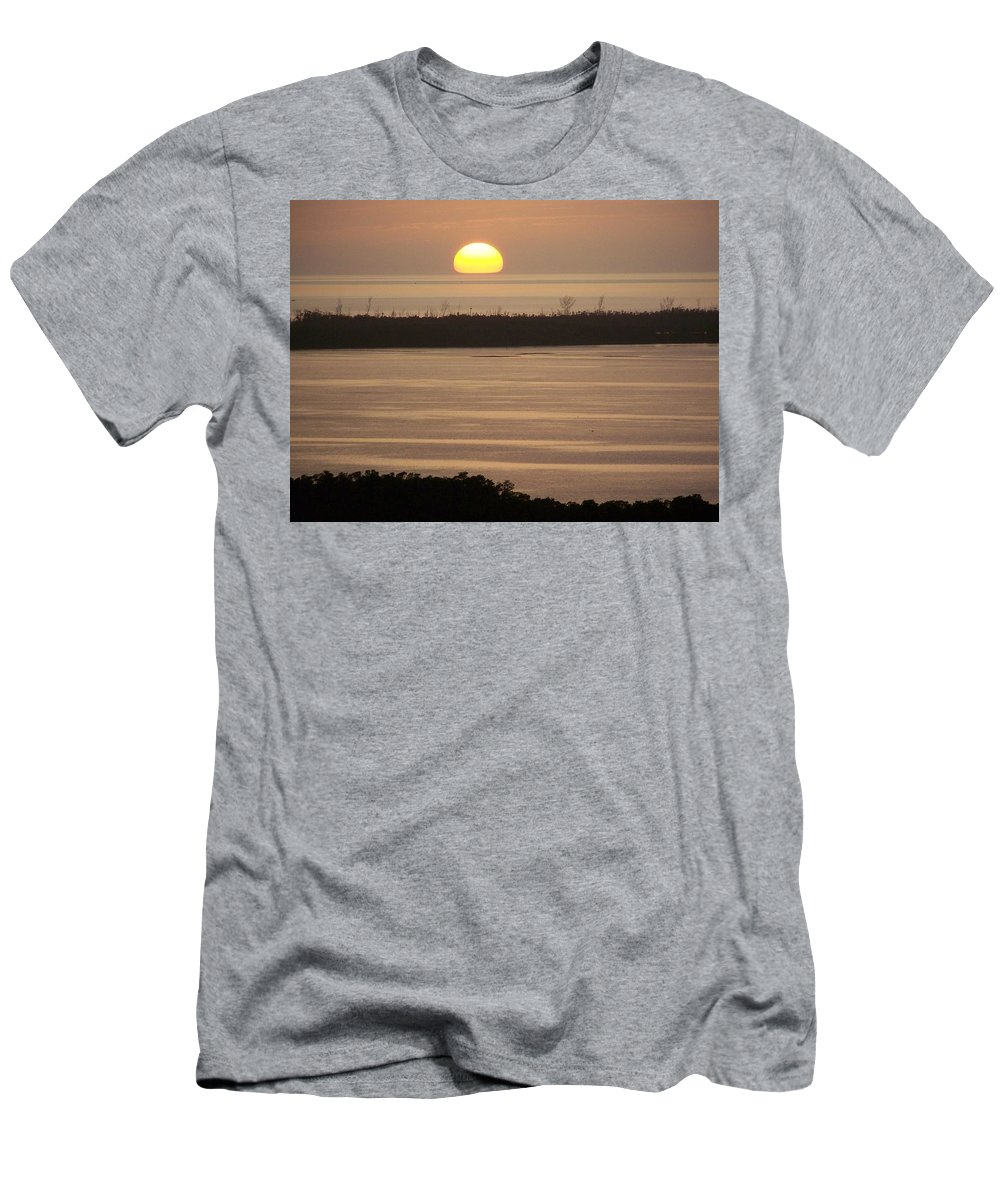 Sunset Men's T-Shirt (Athletic Fit) featuring the photograph Sunset 0022 by Laurie Paci