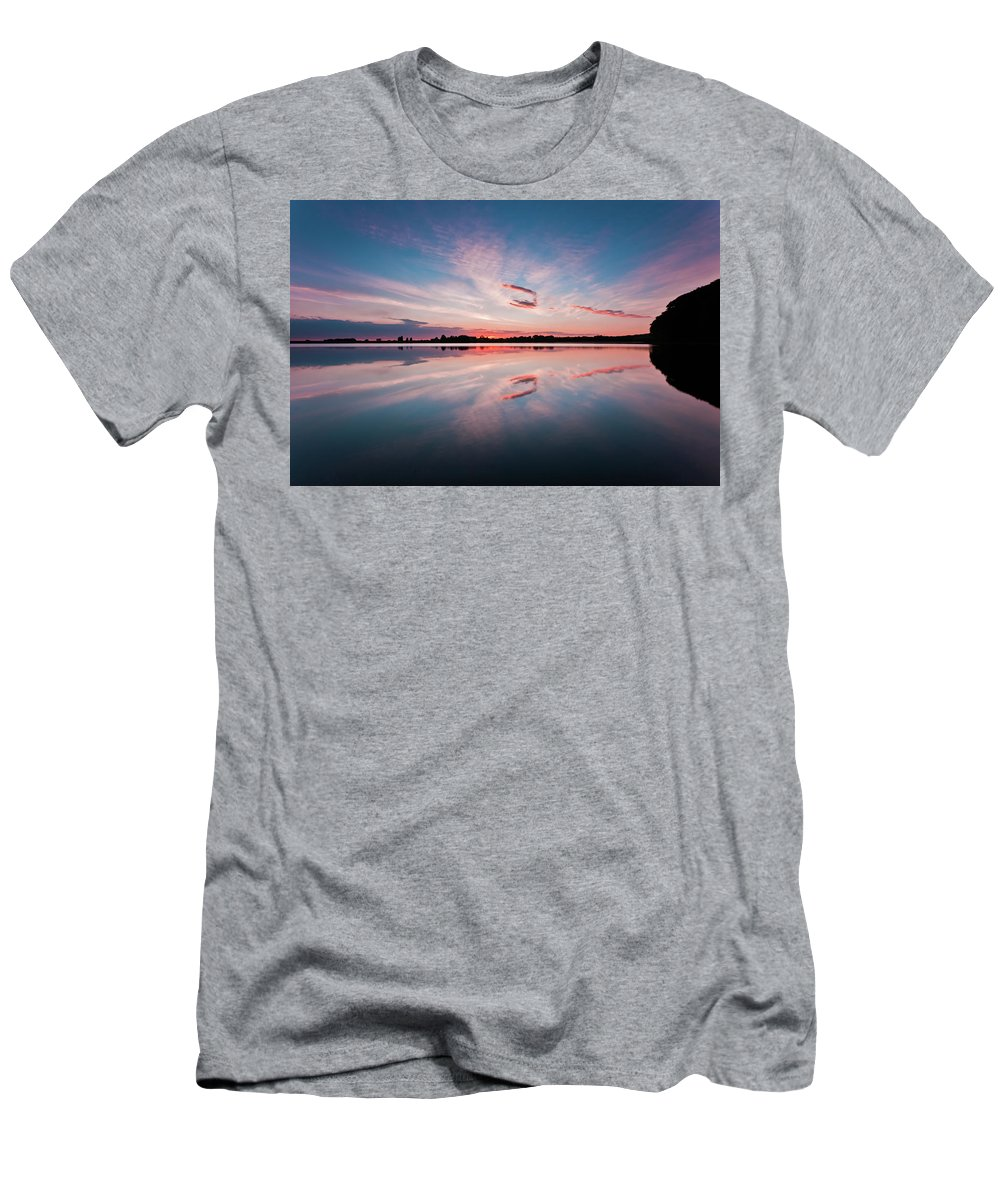 Sunrise T-Shirt featuring the photograph Sunset at Anglezarke Reservoir #3, Rivington, Lancashire, North West England by Anthony Lawlor