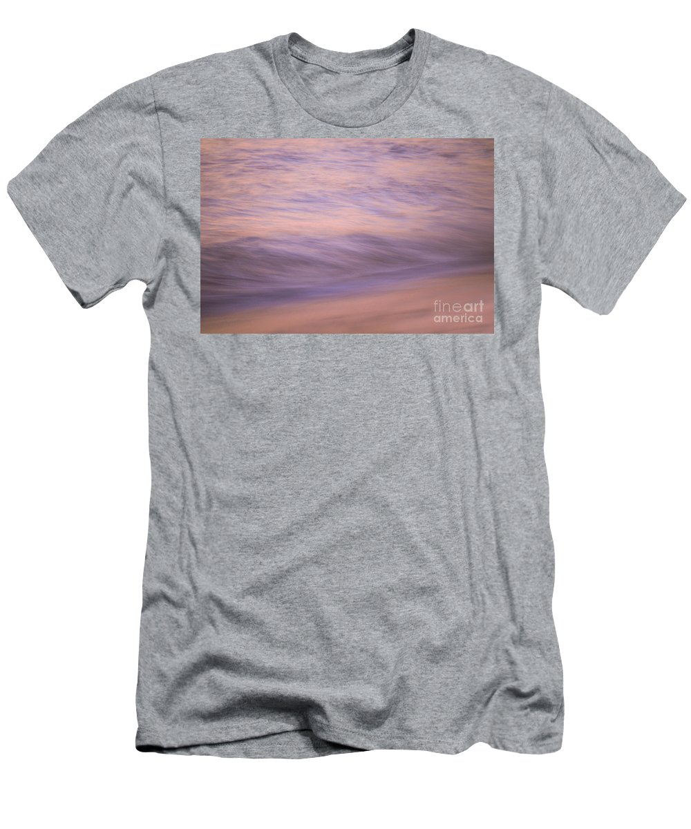 Waves Men's T-Shirt (Athletic Fit) featuring the photograph Sunset Becomes Water by Jeanne McGee