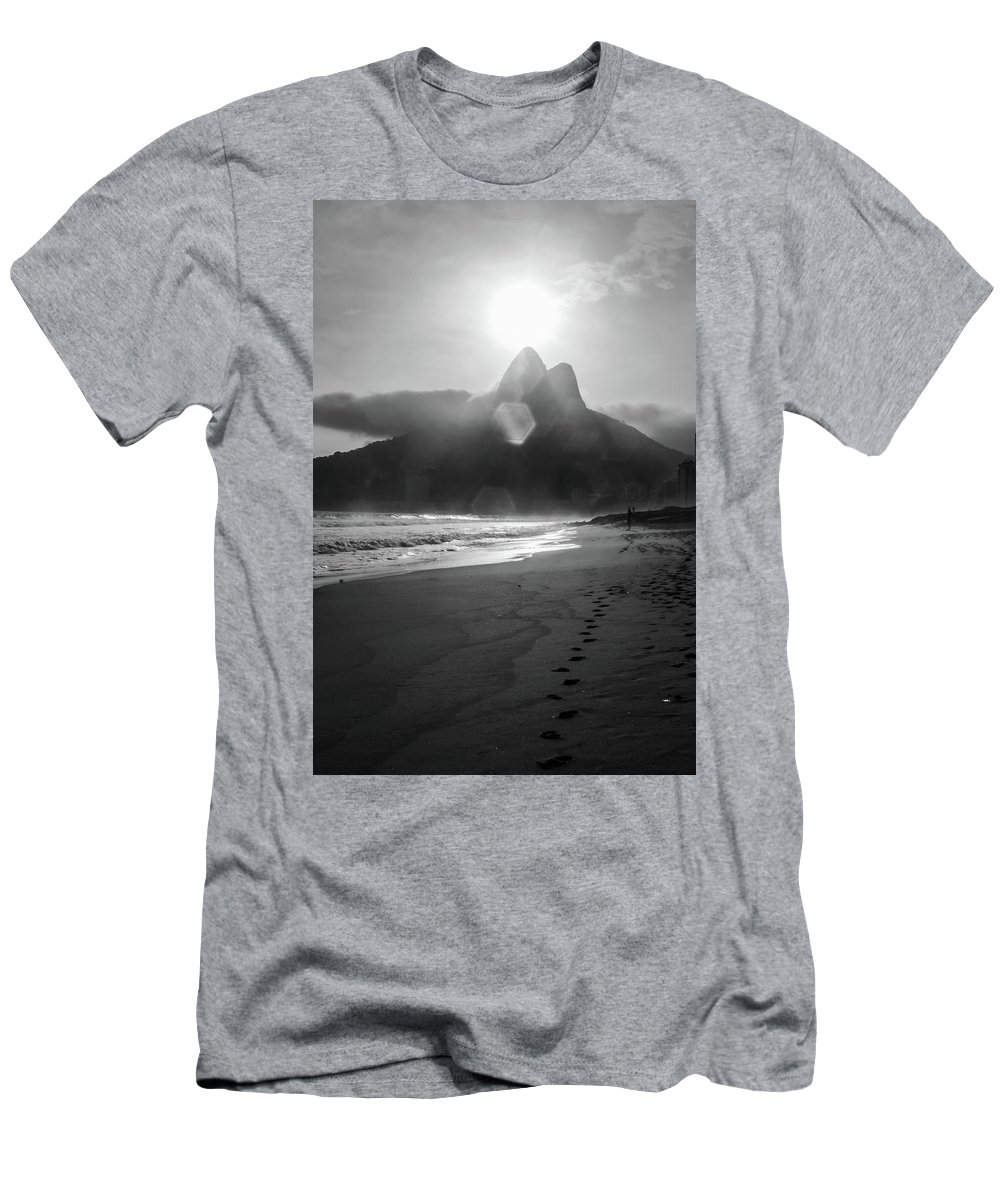 Rio De Janeiro Men's T-Shirt (Athletic Fit) featuring the photograph Sunset In Copacabana by Mao Lopez