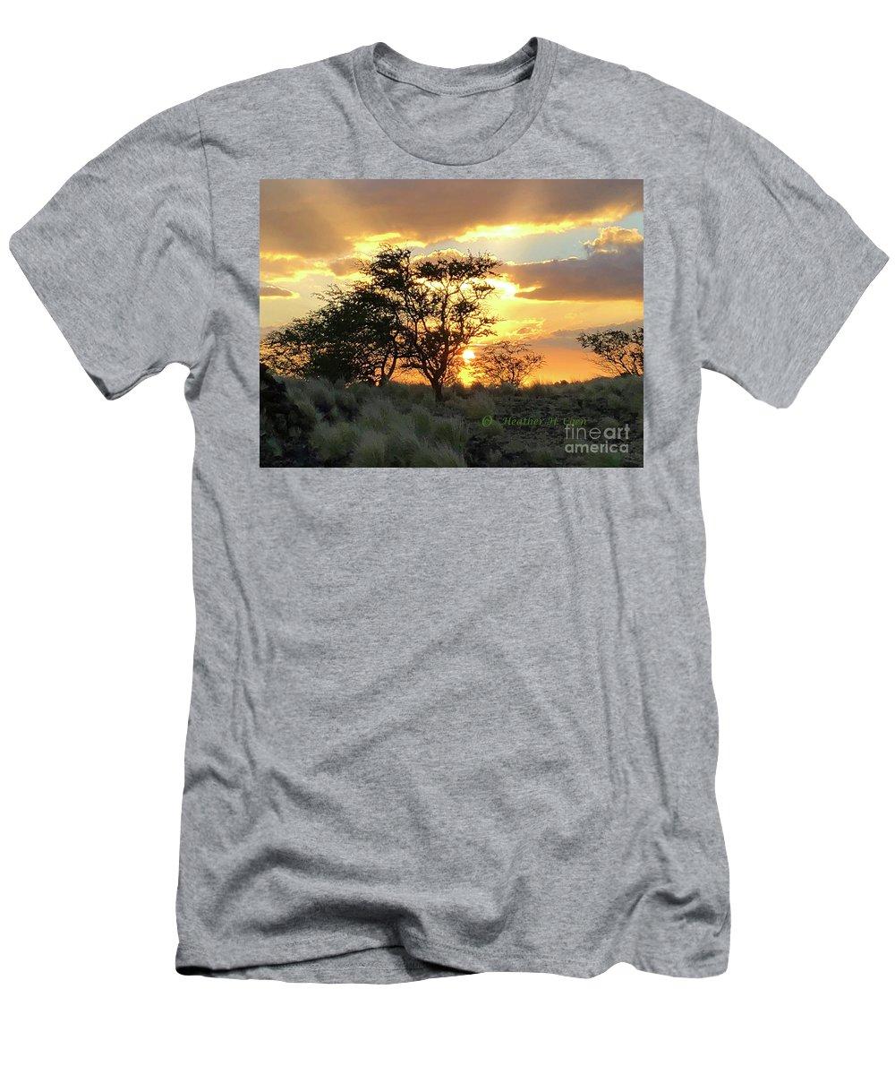 Sunset T-Shirt featuring the photograph Sunset Kona by Heather Coen