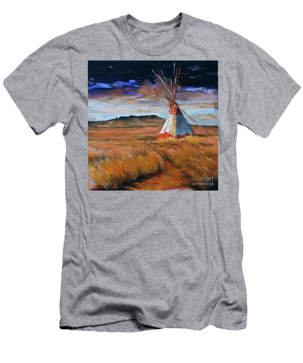 Sunset Men's T-Shirt (Athletic Fit) featuring the painting Living Free by Suzanne J Blinder