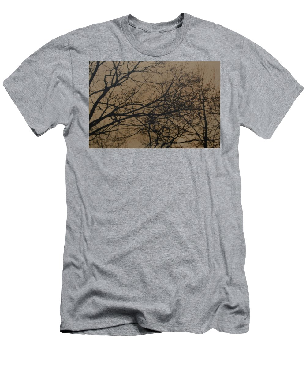 Landscape Men's T-Shirt (Athletic Fit) featuring the photograph Sunset Snow by Rob Hans