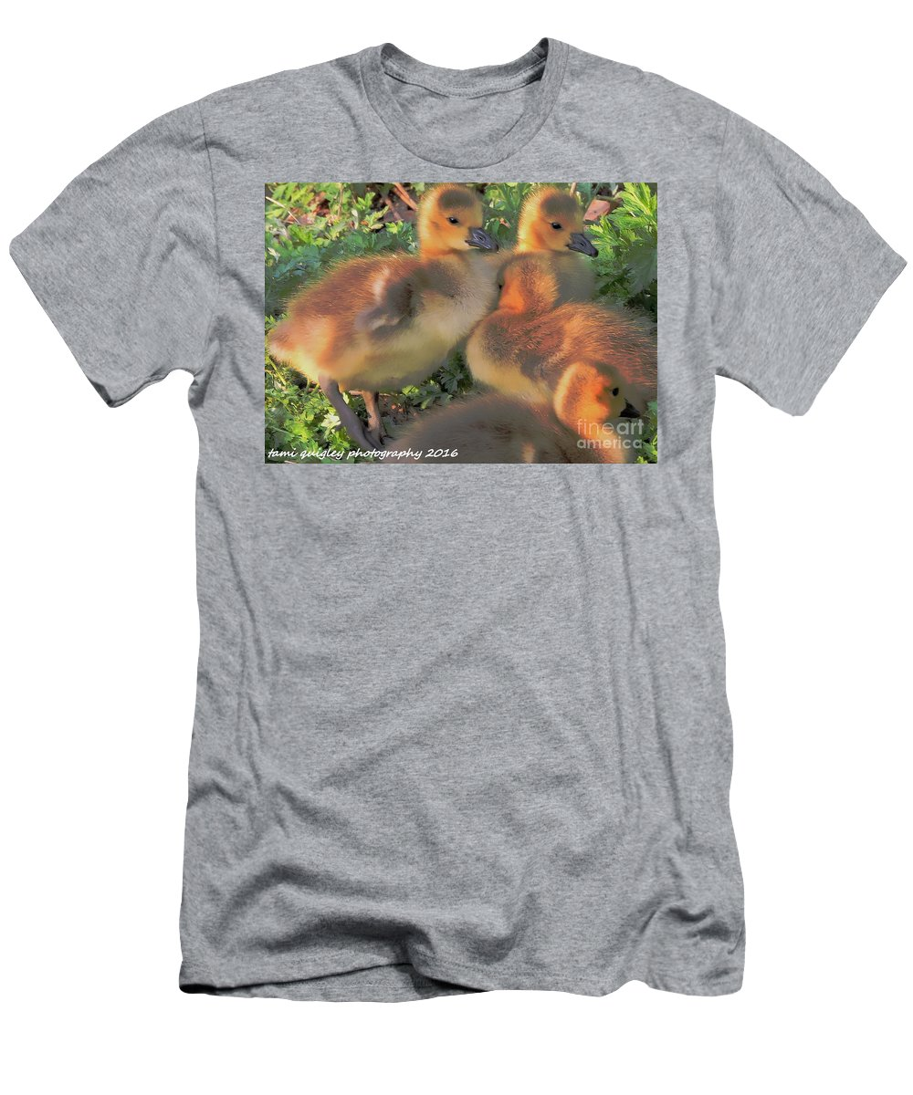 Goslings Men's T-Shirt (Athletic Fit) featuring the photograph Sunset Snuggle by Tami Quigley