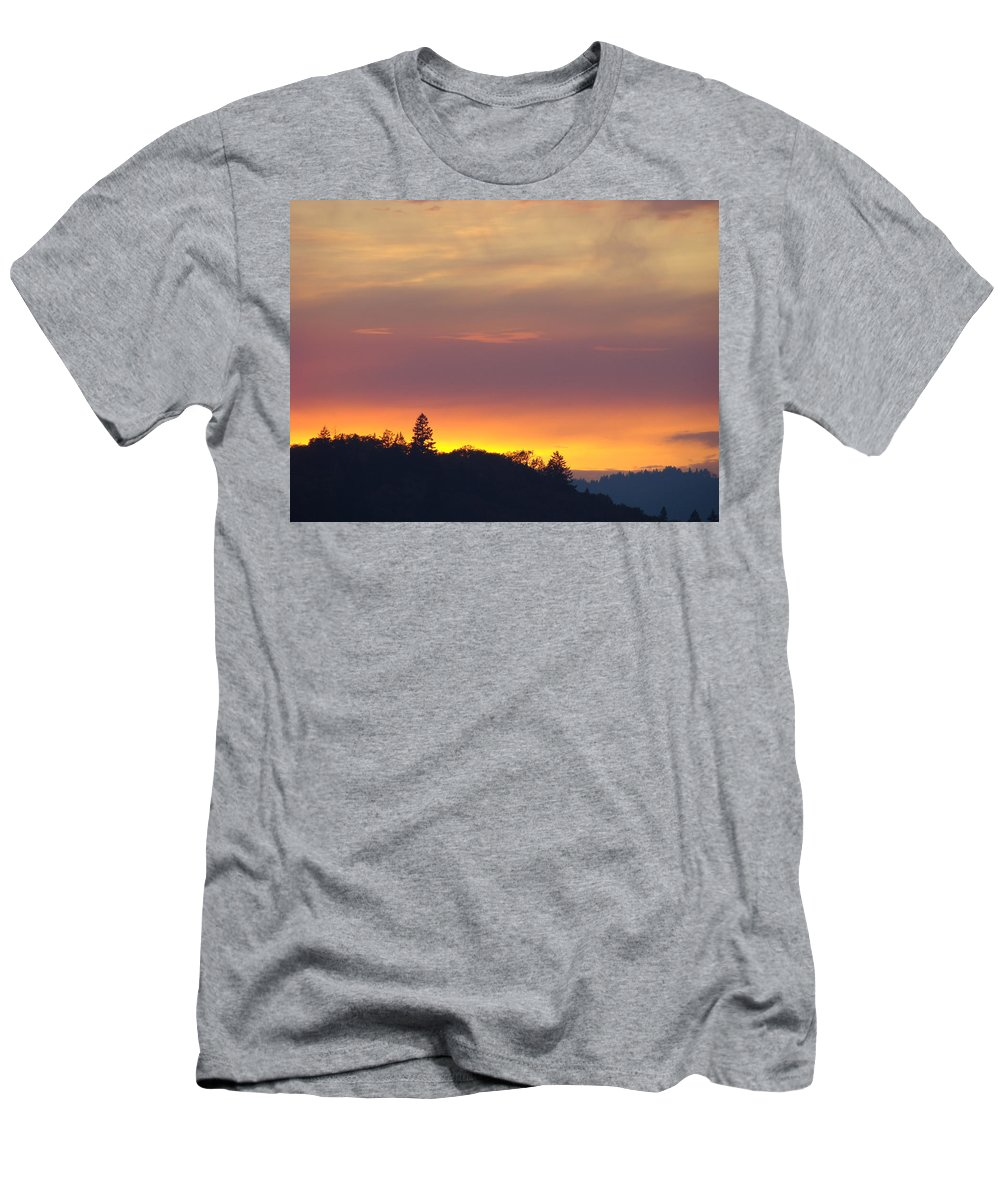Sunset Men's T-Shirt (Athletic Fit) featuring the photograph Sunset Yellow Orange Purple Sunset Giclee Art Prints Baslee Troutman by Baslee Troutman