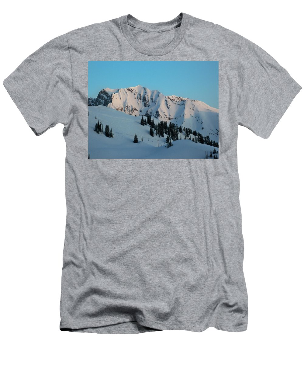 Ski Men's T-Shirt (Athletic Fit) featuring the photograph Superior Sunrise by Michael Cuozzo