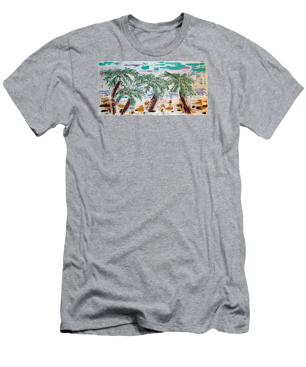 Abstract T-Shirt featuring the painting Surf and Palms by J R Seymour