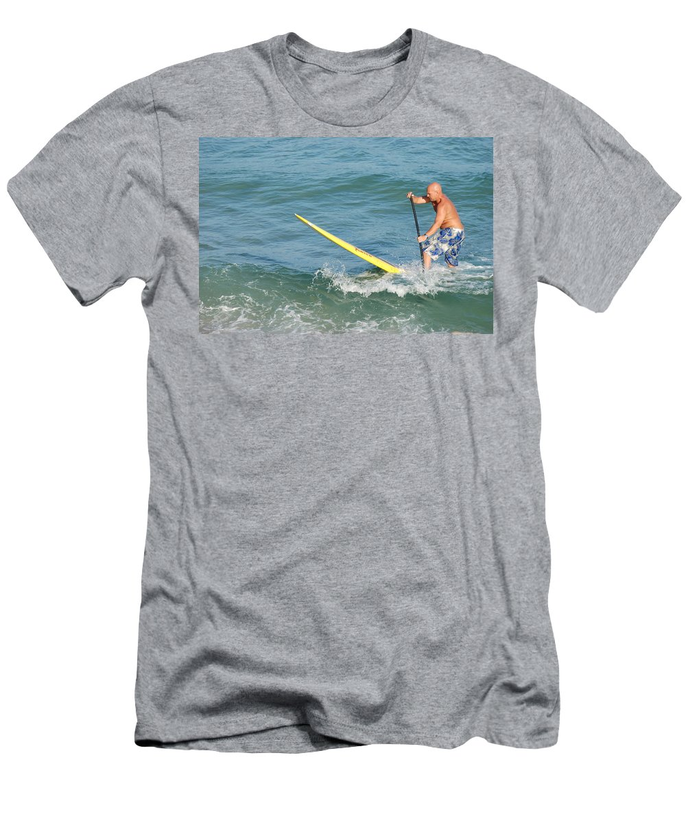 Sea Scape Men's T-Shirt (Athletic Fit) featuring the photograph Surfer Dude by Rob Hans