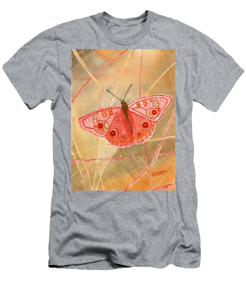 Butterfly Art Men's T-Shirt (Athletic Fit) featuring the painting Survival Butterfly by Charlotte Garrett