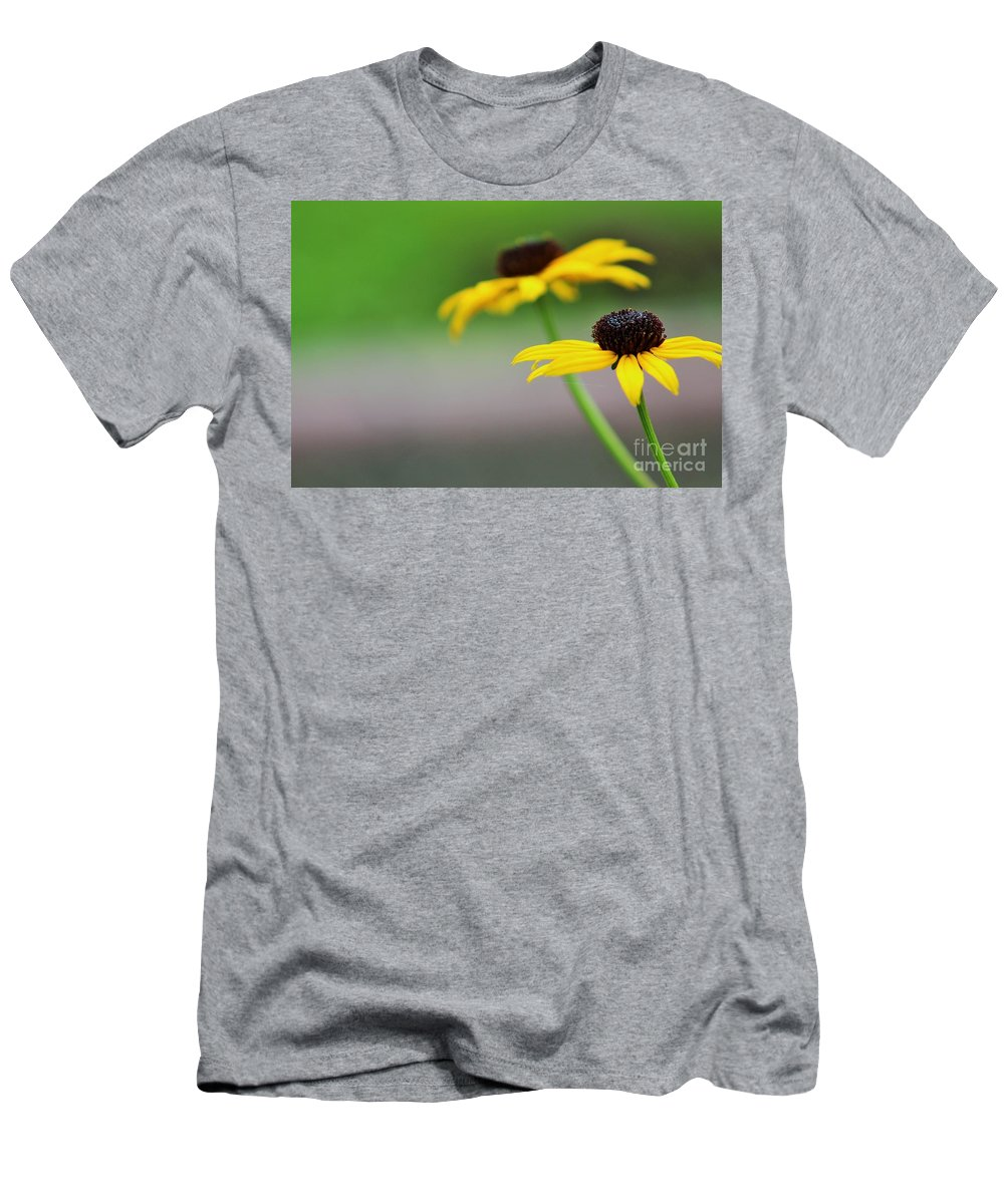 Flowers Men's T-Shirt (Athletic Fit) featuring the photograph Susans by LKB Art and Photography