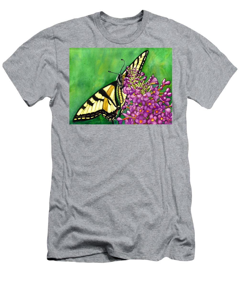 Butterfly Men's T-Shirt (Athletic Fit) featuring the painting Swallowtail 1 by Catherine G McElroy