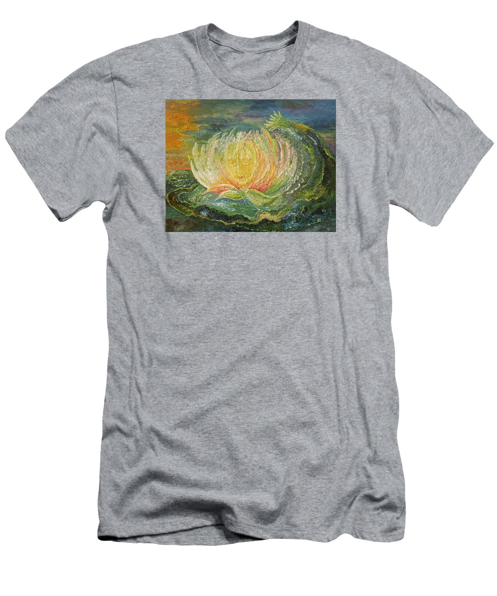 Flower Men's T-Shirt (Athletic Fit) featuring the painting Sweet Morning Dream by Karina Ishkhanova