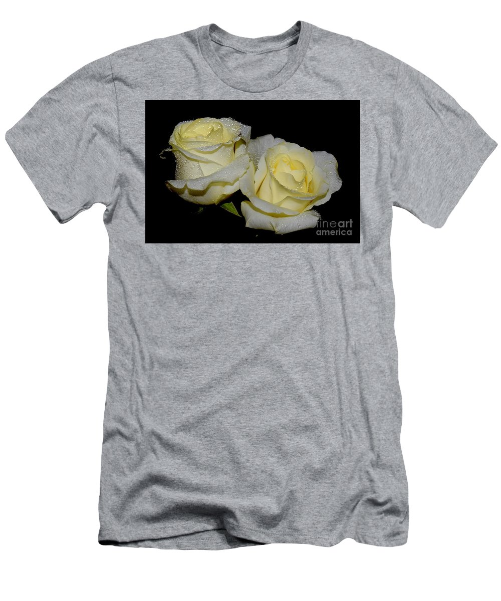 Men's T-Shirt (Athletic Fit) featuring the photograph Friendship Roses by Jeannie Rhode