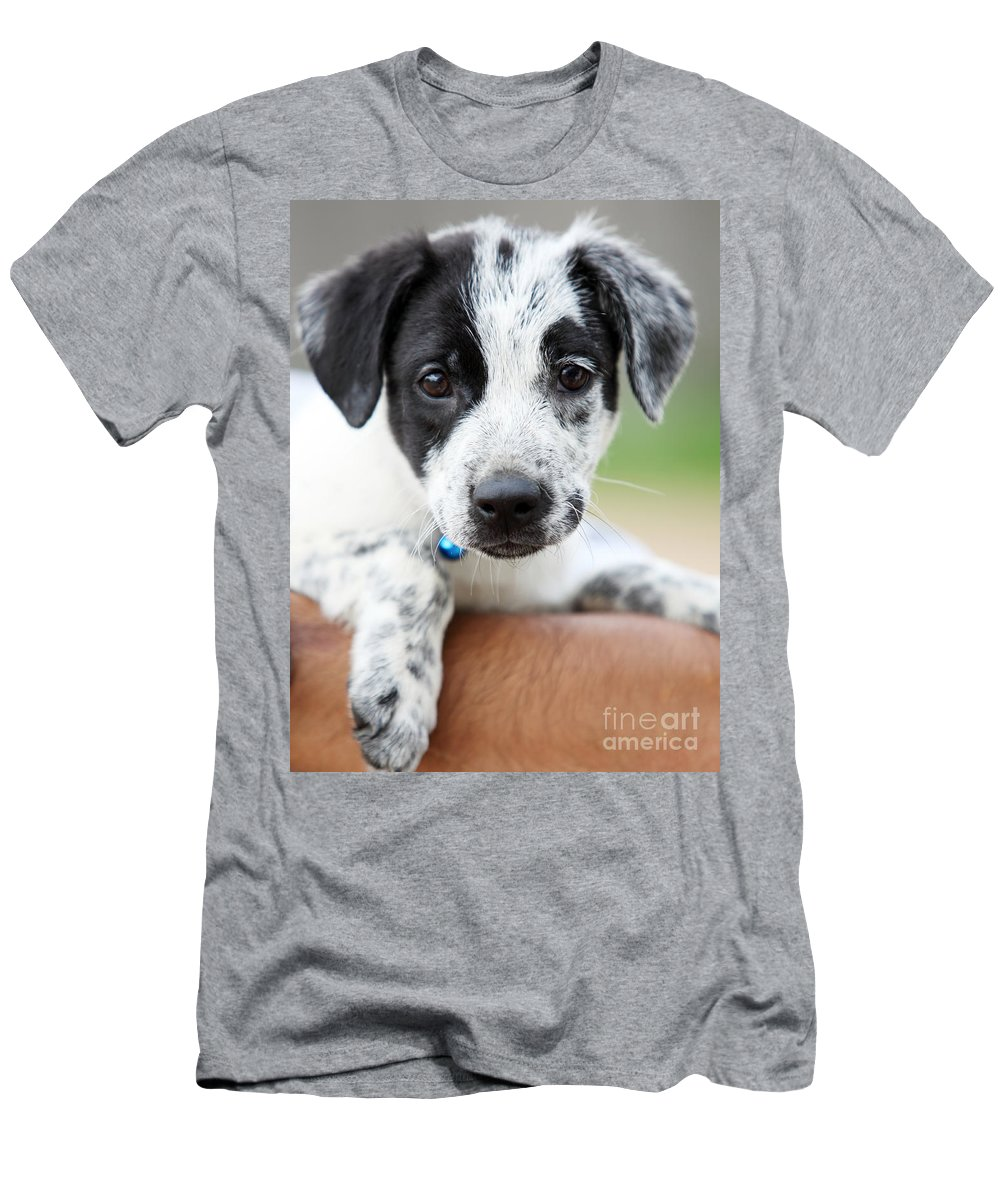 Puppy Men's T-Shirt (Athletic Fit) featuring the photograph Sweetness by Amanda Barcon