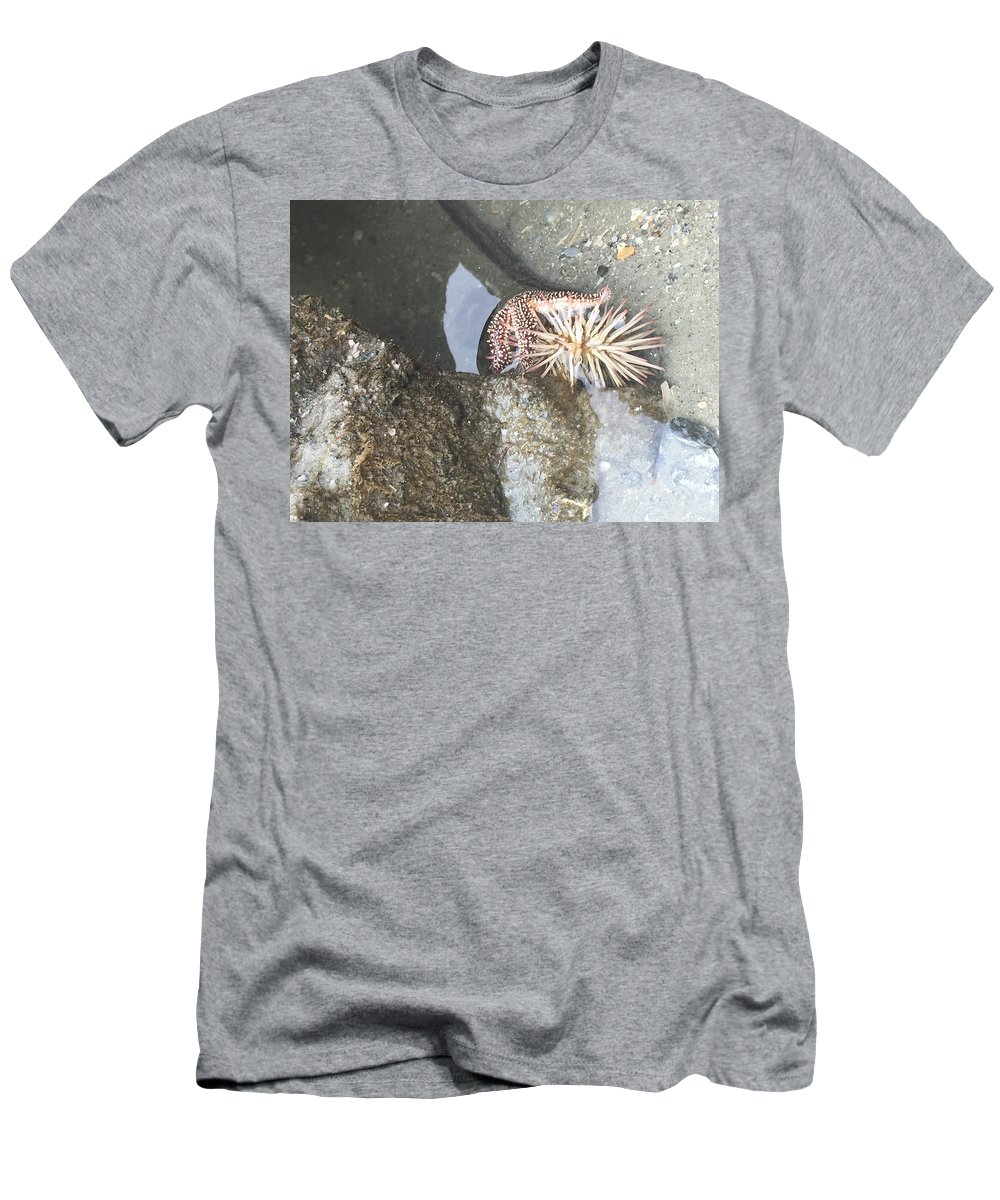 Sea Creatures Men's T-Shirt (Athletic Fit) featuring the photograph Symbiosis by Karen Dawson