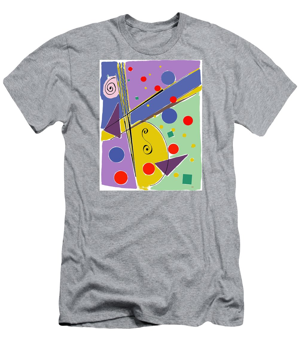 Abstract Men's T-Shirt (Athletic Fit) featuring the digital art Syncopated Rhythm by Lois Boyce