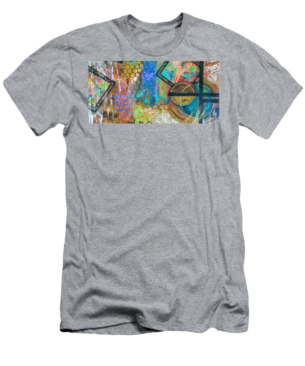 Happy T-Shirt featuring the painting Tada by Valerie Josi