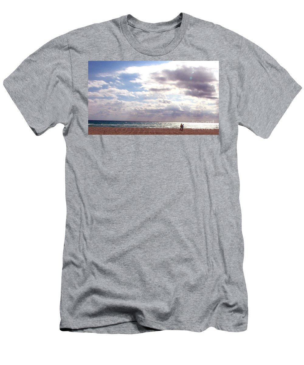 Walking Men's T-Shirt (Athletic Fit) featuring the photograph Taking A Walk by Amanda Barcon