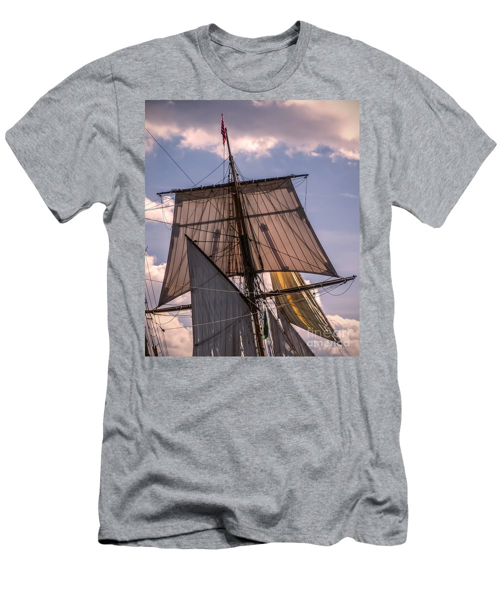 Photography Men's T-Shirt (Athletic Fit) featuring the digital art Tall Ship Sails 6 by Kathryn Strick