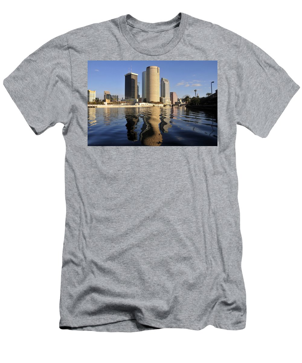 Tampa Bay Florida Men's T-Shirt (Athletic Fit) featuring the photograph Tampa Florida 2010 by David Lee Thompson