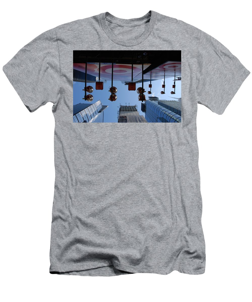 Architecture Men's T-Shirt (Athletic Fit) featuring the photograph Target Lights by Rob Hans