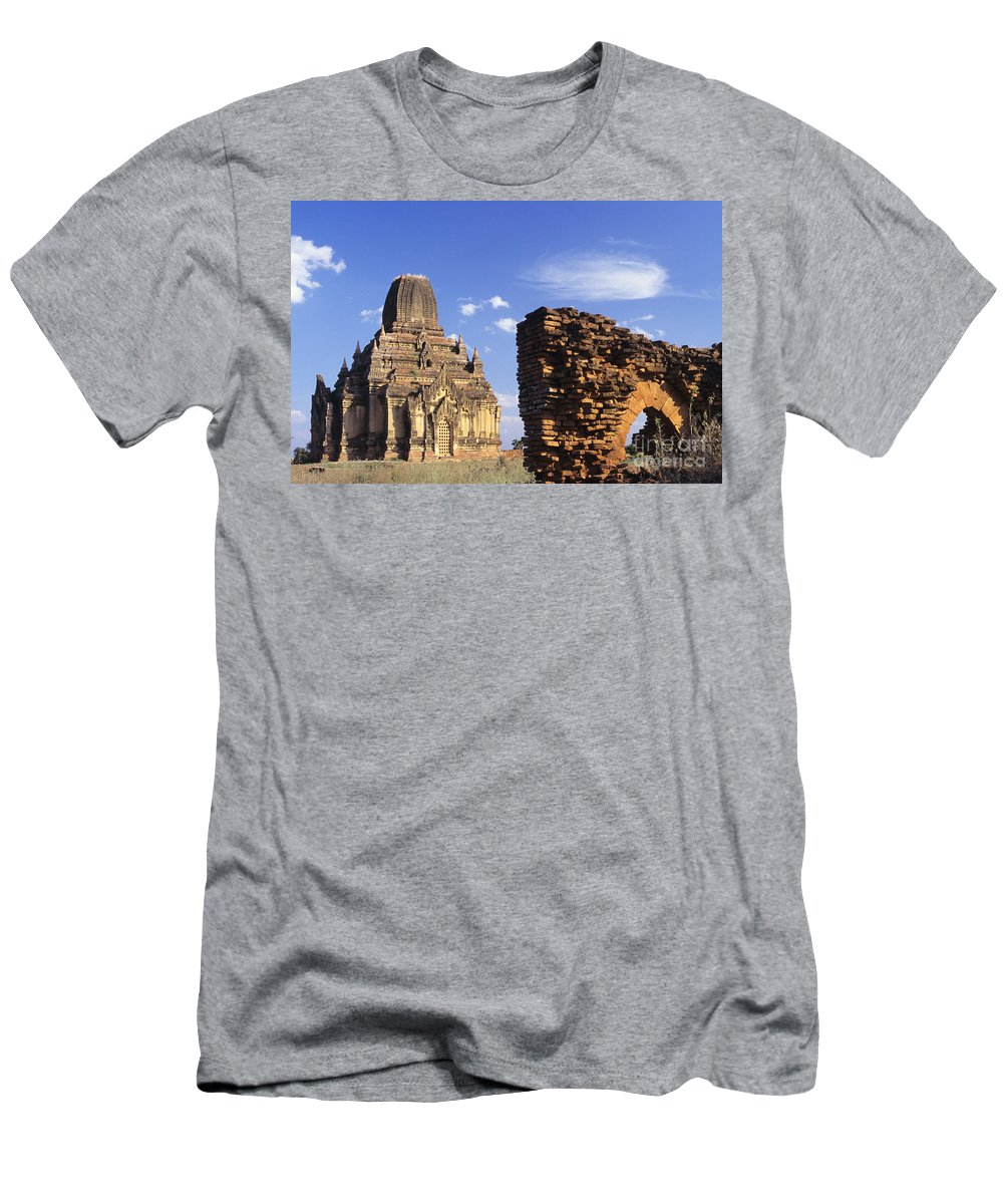 Afternoon Men's T-Shirt (Athletic Fit) featuring the photograph Tayokpye Temple by Gloria and Richard Maschmeyer - Printscapes