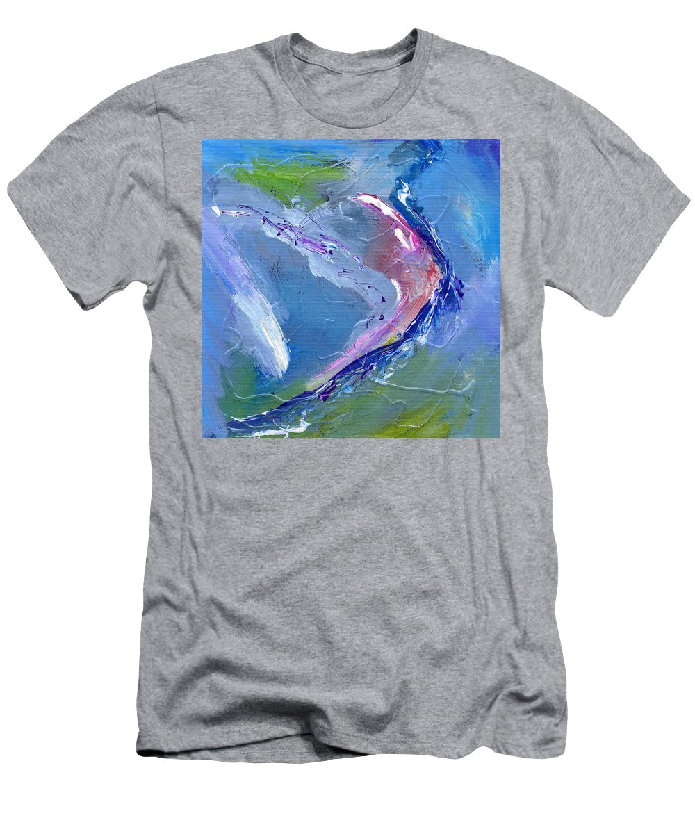 Abstract Men's T-Shirt (Athletic Fit) featuring the painting Teahupoo by Dominic Piperata