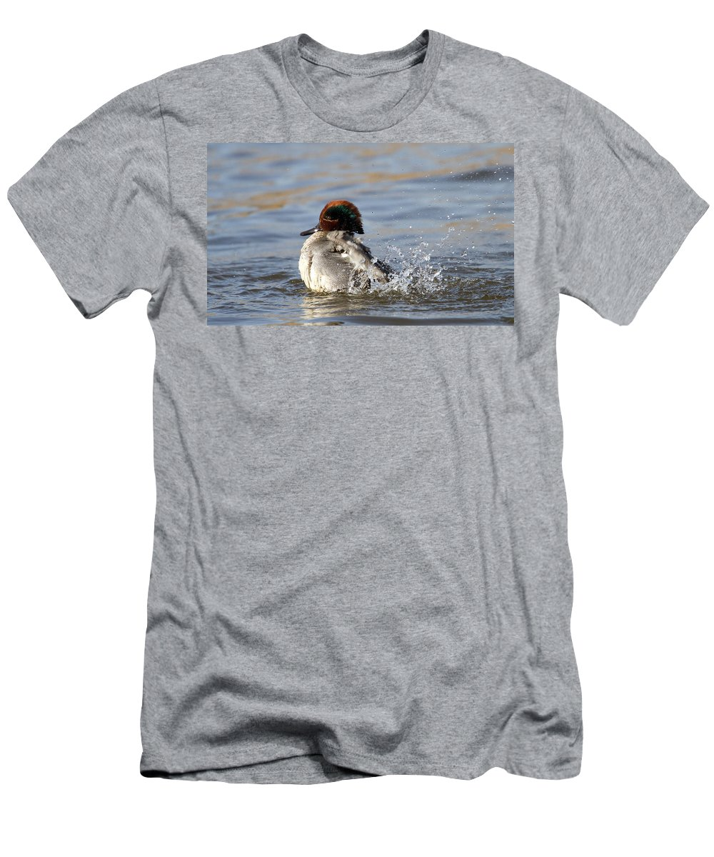Teal Men's T-Shirt (Athletic Fit) featuring the photograph Teal Awash by Bob Kemp