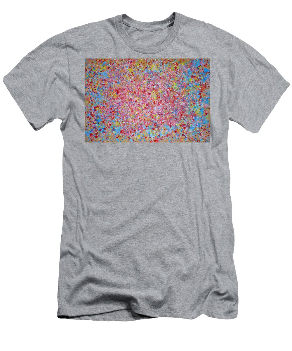 Abstract Men's T-Shirt (Athletic Fit) featuring the painting Teddy Bear by Ericka Herazo