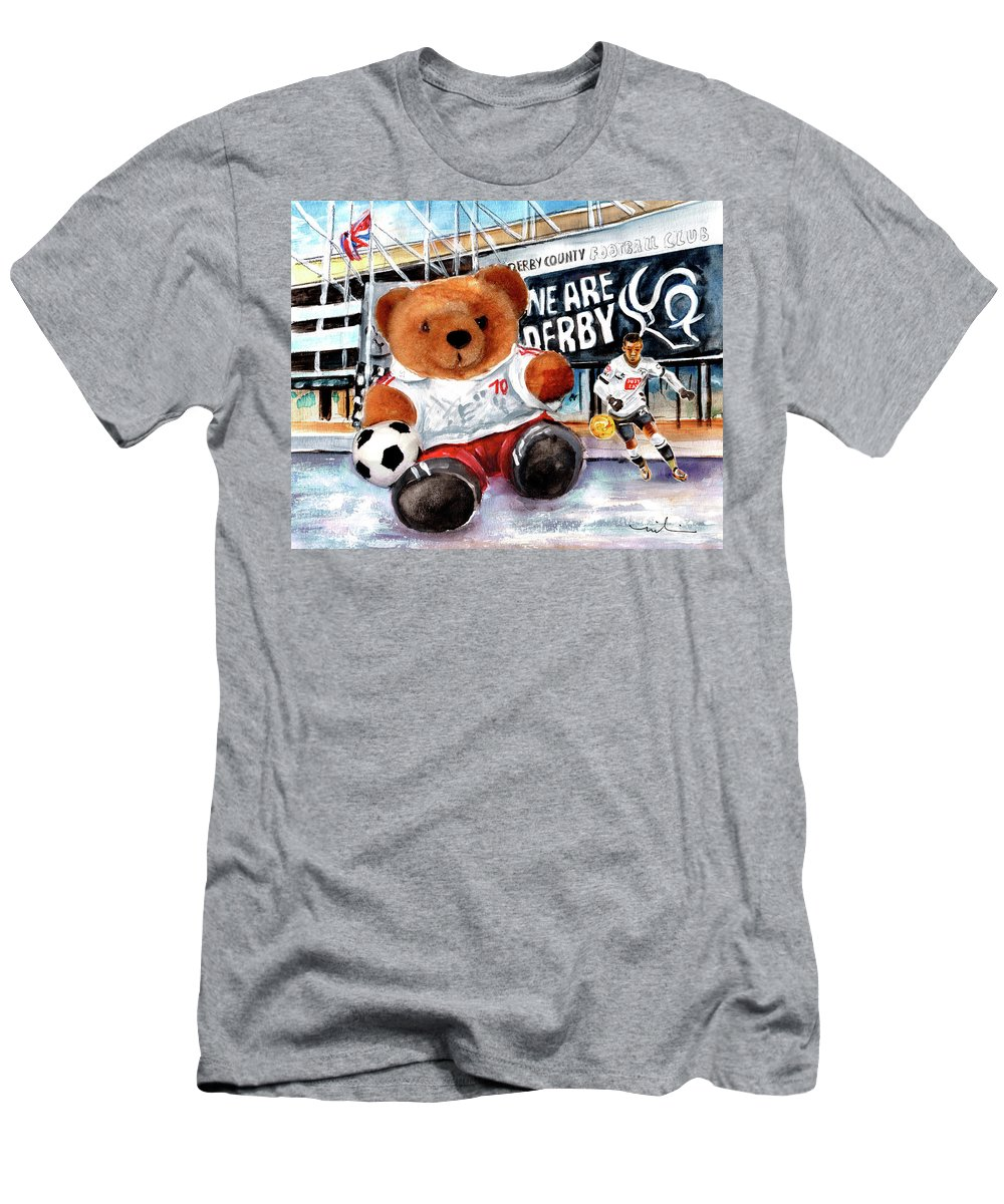 Truffle Mcfurry Men's T-Shirt (Athletic Fit) featuring the painting Teddy Bear Ince by Miki De Goodaboom