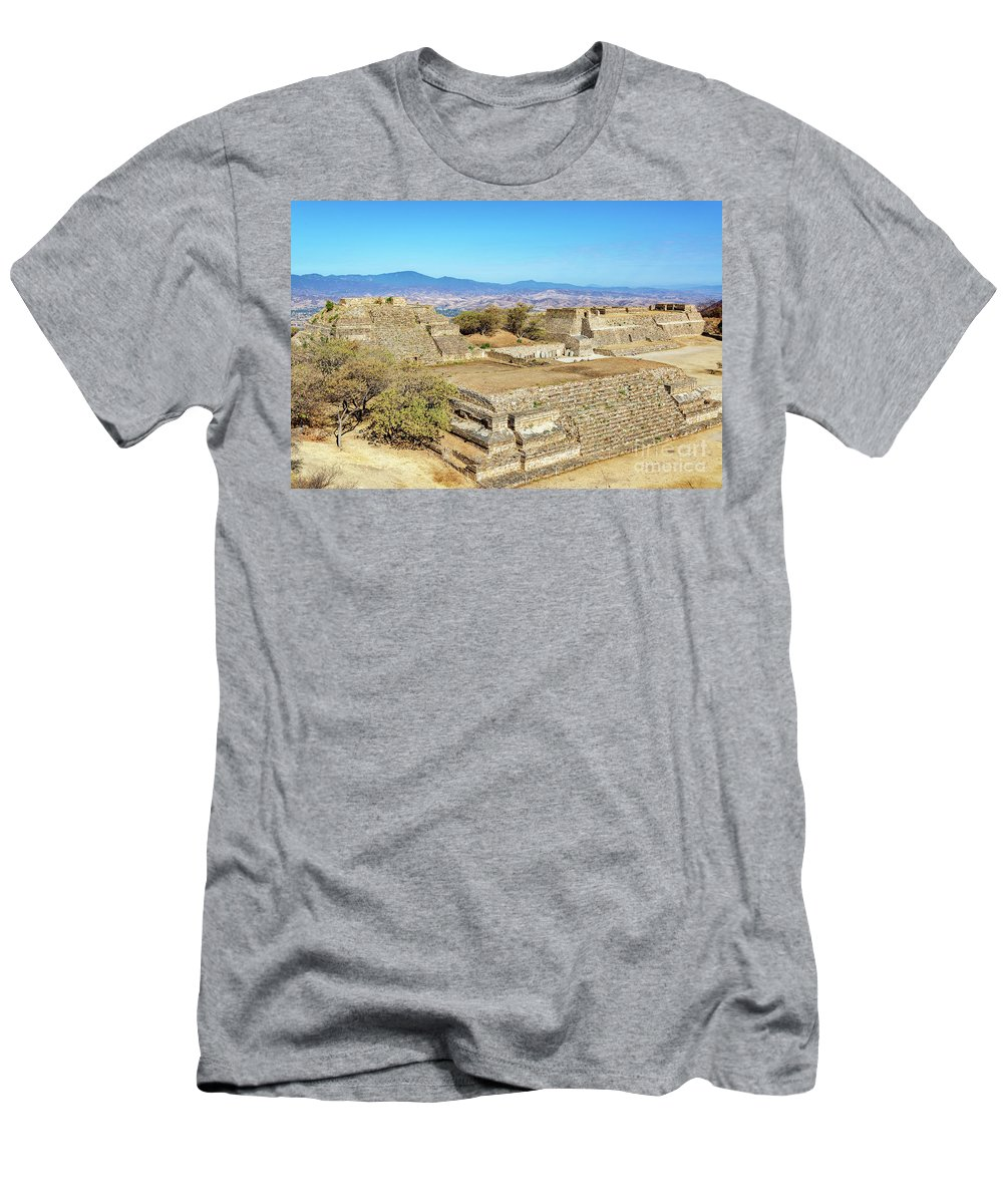 Monte Men's T-Shirt (Athletic Fit) featuring the photograph Temples In Monte Alban by Jess Kraft